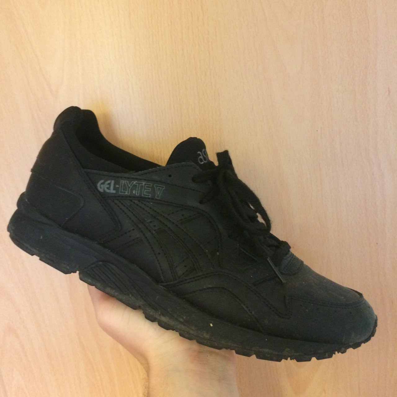 ⚡ ⚡ Price Drop ⚠ Asics Gel-Lyte V all black leather to a - Depop 67c3e1f441c4f
