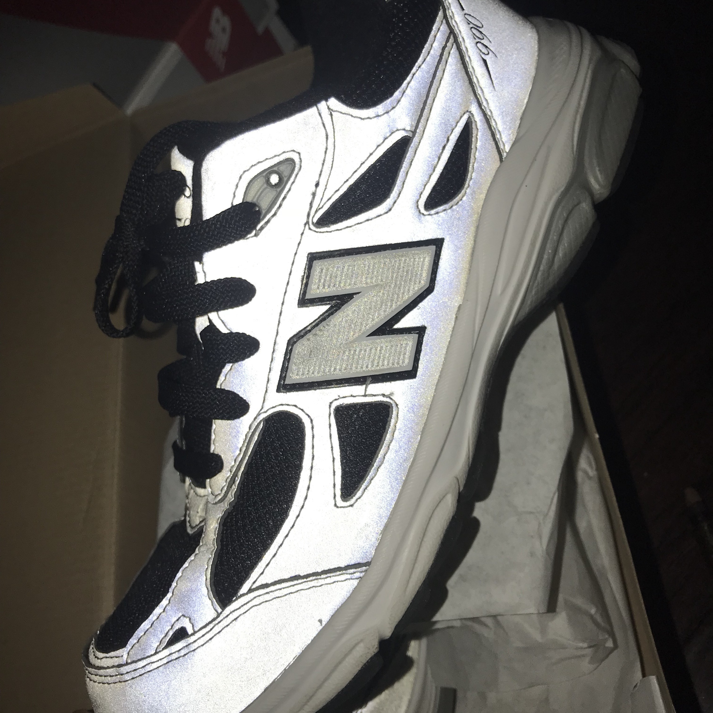 huge discount 32990 4bb82 New balance 990 reflective #newbalance #reflective... - Depop