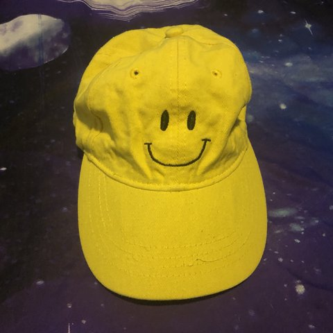 Yellow On Cloud 9 Smiley Face Hat Hats Smileyface Depop