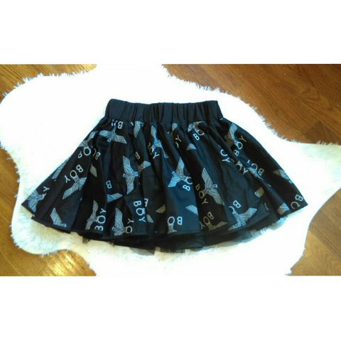 95690366281ed Boy London rara skirt. Black   white. Size  Small  boylondon - Depop