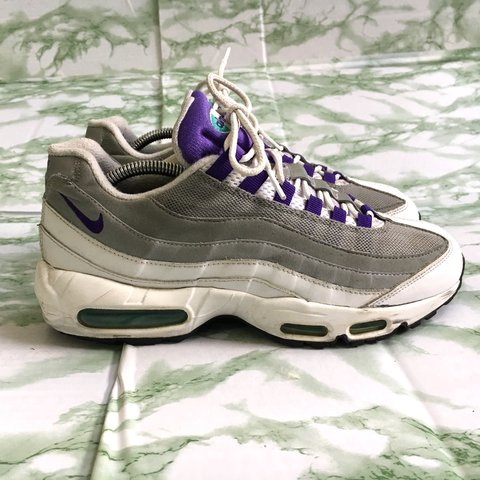 premium selection f9b57 3ff26  yobs sport. last year. Kings County, United States. NIKE AIR MAX 95. WHITE  WOLF GRAY PURPLE