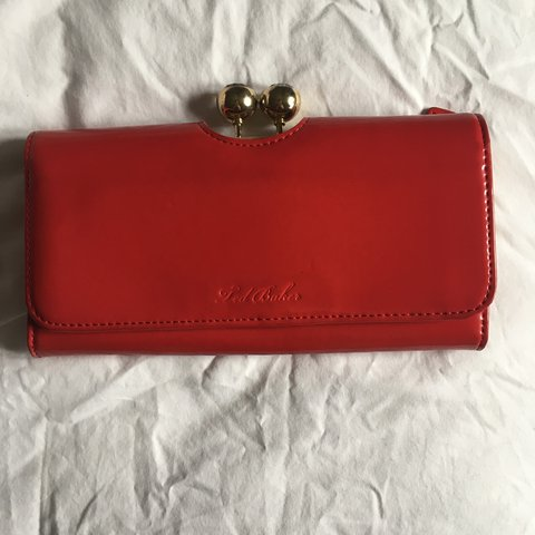 f2a5c942e4420 Large red Ted Baker purse. Inside is light pink and the coin - Depop