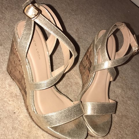 1d653f1d15dd New look wedges size 6 for sale! Had these on twice but for - Depop