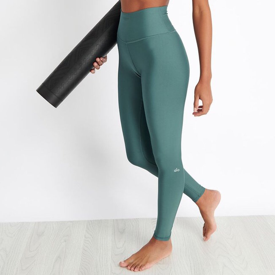 Alo Yoga Airlift Leggings Seagrass Size Depop