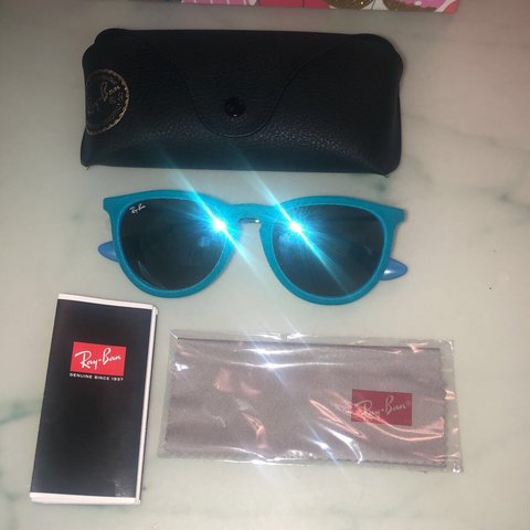 07239d28f0 Genuine designer Ray-Ban (Erika Remix style) sunglasses have - Depop