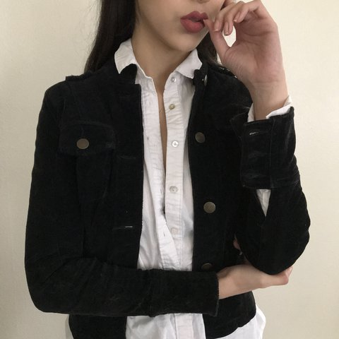 a44b553ea8f Military Style Black Corduroy Jacket. This is for my VERY - Depop