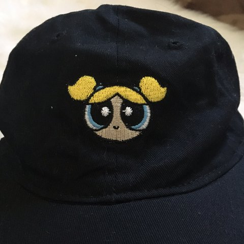 d5e19182cd4 Cute Embroidered Powerpuff Girls Bubbles Dad Hat Just the a - Depop