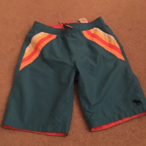 12962b3652 @aloosemore. 8 months ago. Cardiff, United Kingdom. Abercrombie boys  swimming shorts. Age 13/14