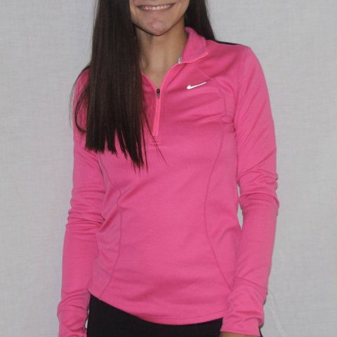 62d0f95d @lilvalenti. last month. Gates Mills, United States. Nike pink long sleeve  quarter zip top ...