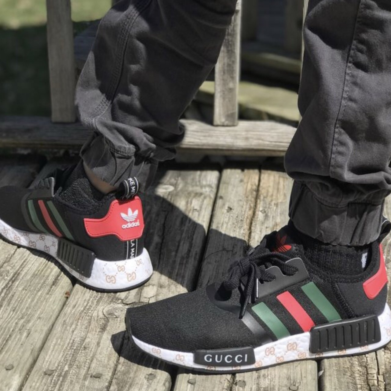 a359269ffaf72 This is a pair of custom Gucci adidas NMD in mint condition. - Depop