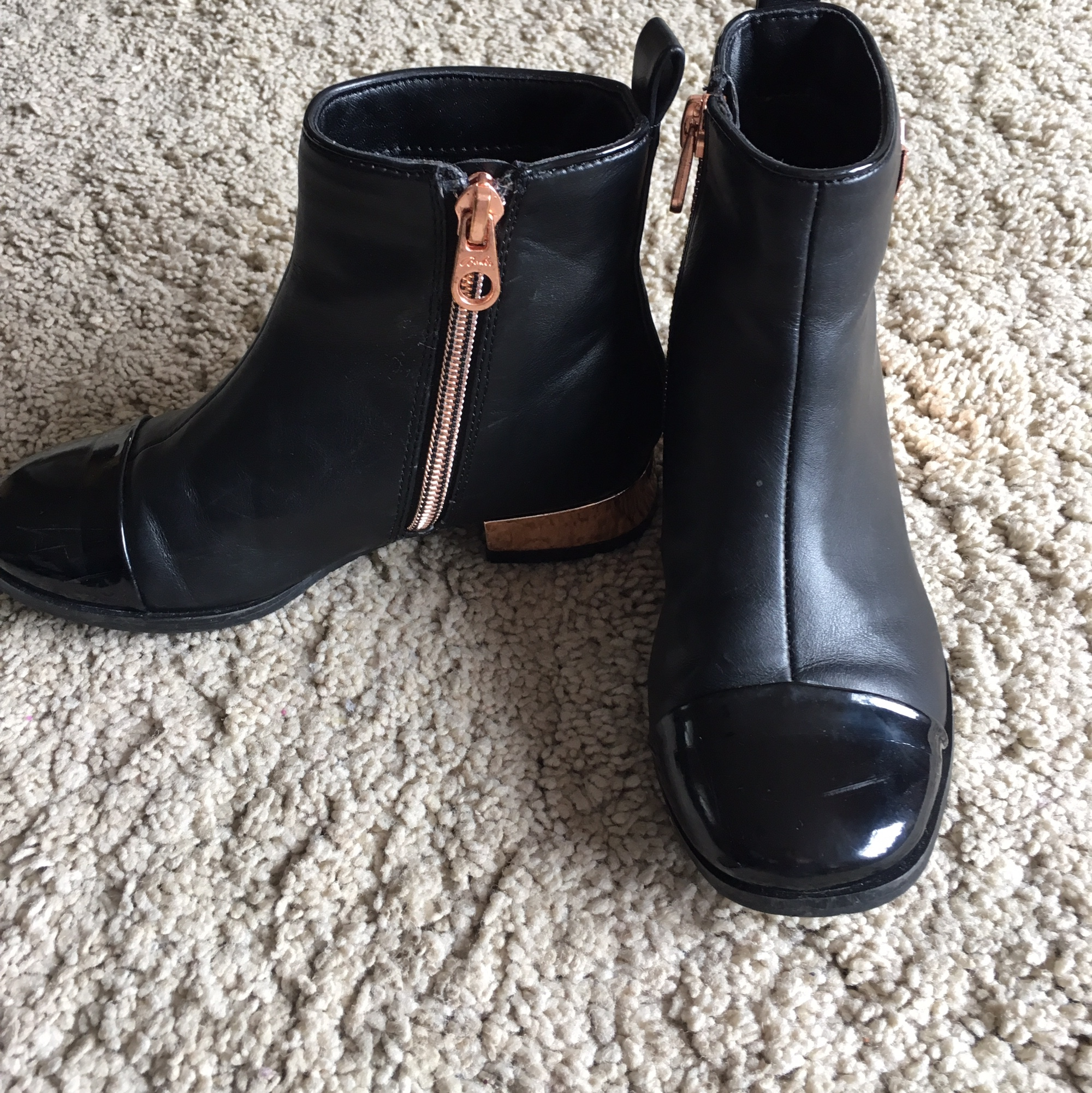Black girls ted baker boots. Size 10