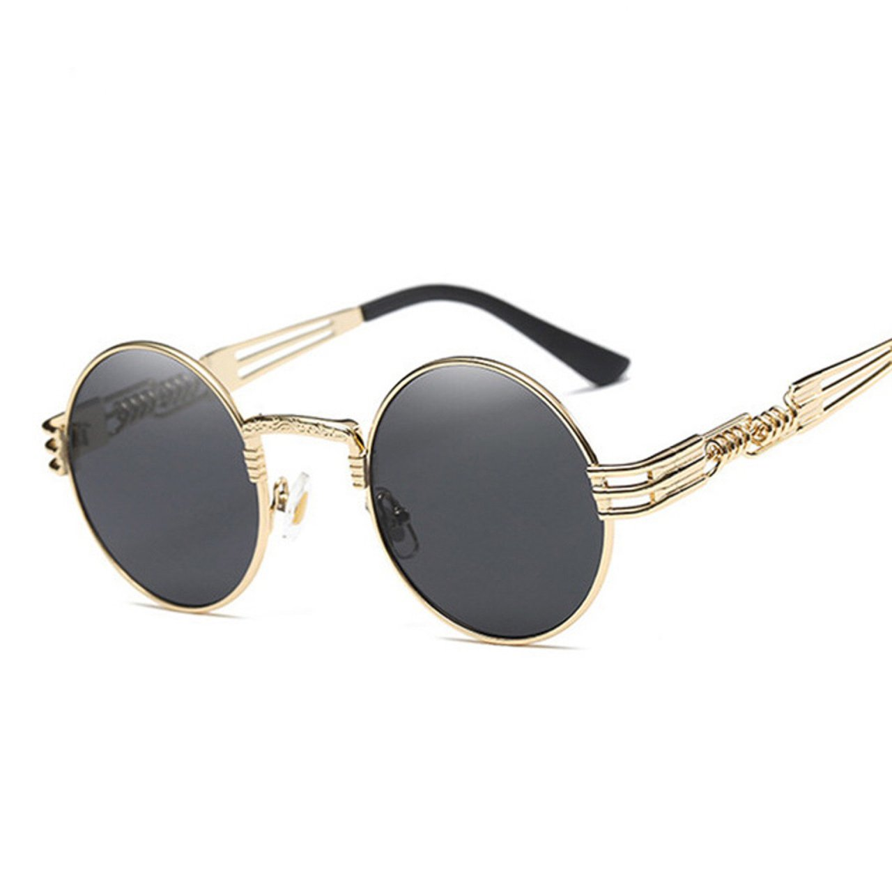 97673c3e68 Men s Round Shape Gold And.  19.99. Dale Street Gold Sunglasses Frame ...