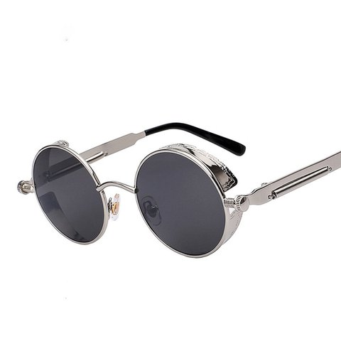 9dc396ba4 @tsvjewelers. 8 months ago. Pittsburg, United States. Round Silver Frame Reflective  Sunglasses
