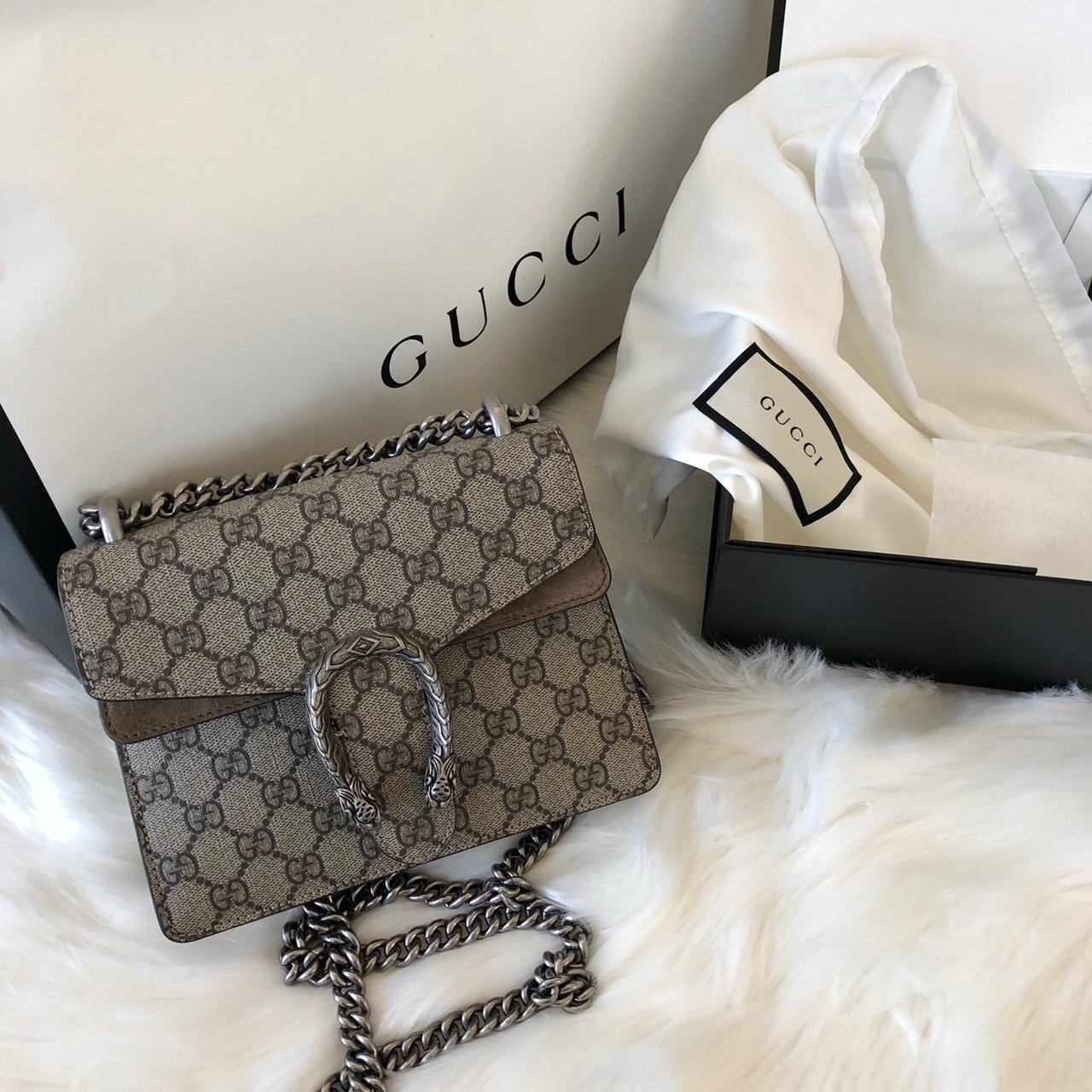 878329076f07 @dilnara. last month. San Diego, United States. Gucci Dionysus GG Supreme  mini bag. Excellent condition ...