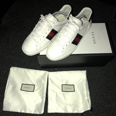 6bf96338bcb0 Gucci trainers Size 10 In great condition only be worn a a - Depop