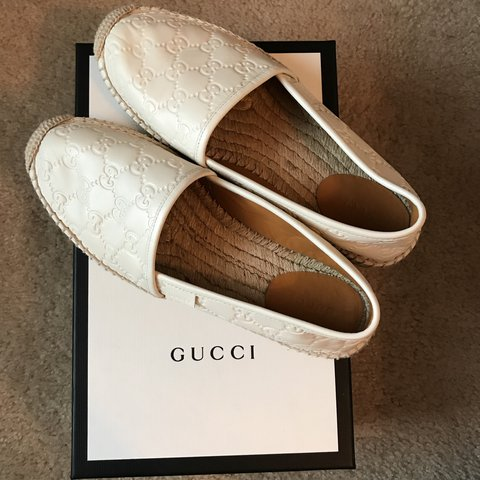 65741a526e2 Gucci Signature Leather Espadrilles PERFECT CONDITION Worn - Depop