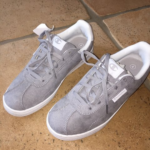 4902c28dca6 Grey suede Champion sneakers! (NWT) These are brand new with - Depop