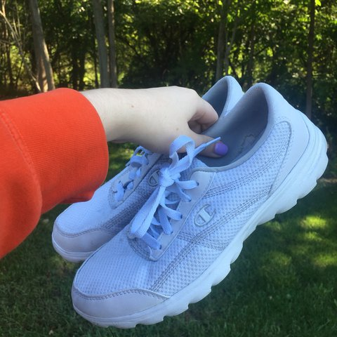 b905119b7d9 VINTAGE WHITE CHAMPION TENNIS SHOES ⚪  CyberMonday BOGO - - Depop