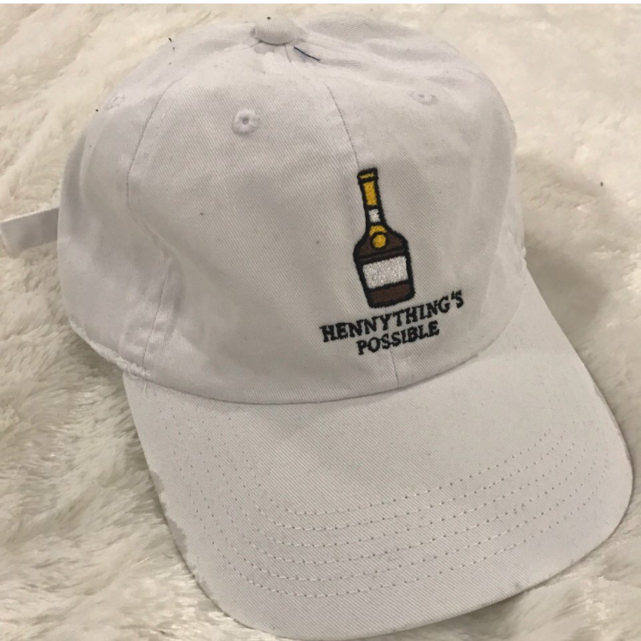 536f98bed42 White hennything possible dad hat❗️for the henny lovers 👀 - Depop