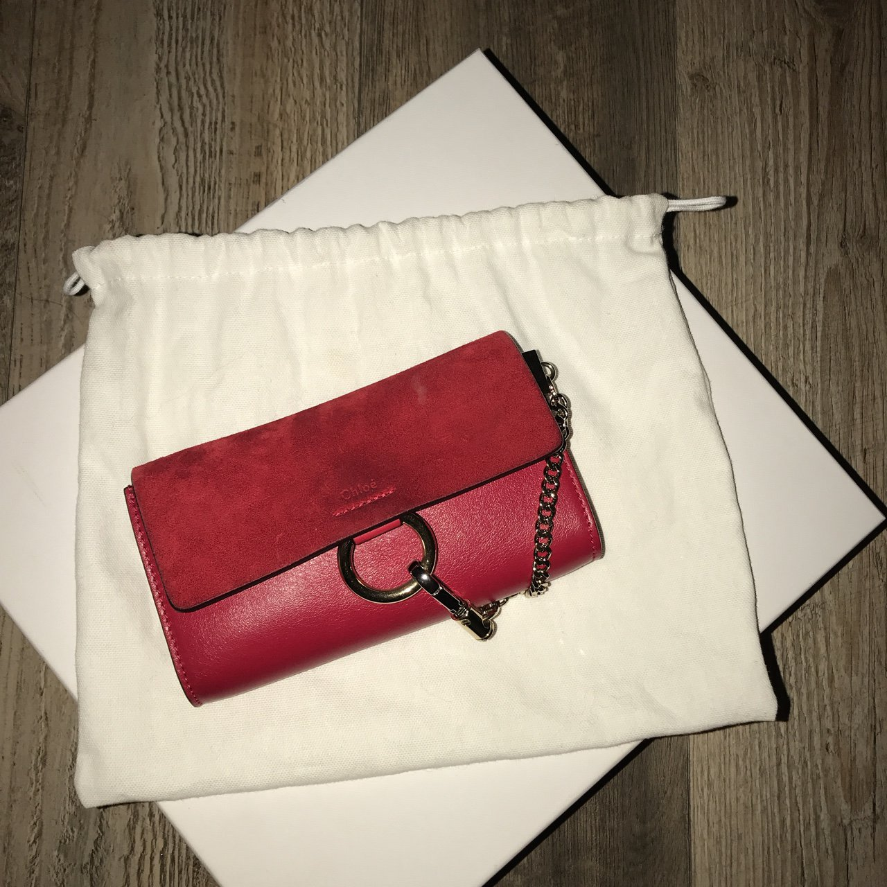 Chloe Faye bag. Red with gold details. Boutght last year. I - Depop 3f97d95ea06e