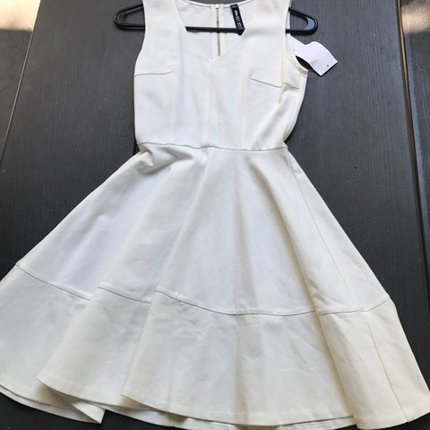 Lord Taylor White Dress With A God Zipper On The Expect Depop