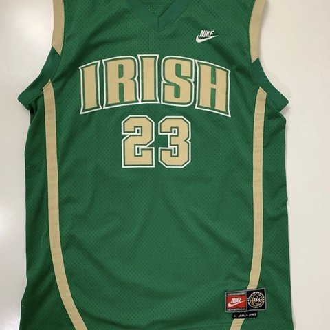 87fd46163d4f Nike LeBron James SVSM Irish HS  03 Throwback Jersey Size - Depop
