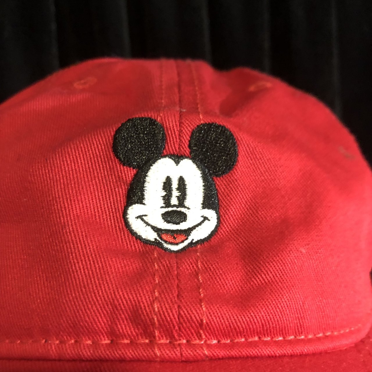 Cute red Mickey Mouse Disney hat. Never worn. Adjustable dad - Depop 5371d9fed74f