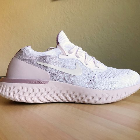 18cb54caf4eef New Nike Epic React Flyknit Pearl Pink Women s Running Shoes - Depop