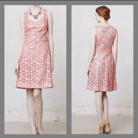 d09c8494be0e @rafamour. 4 days ago. East Pittsburgh, United States. Anthropologie Maeve  Eleyet Embroidered Coral shine dress ...