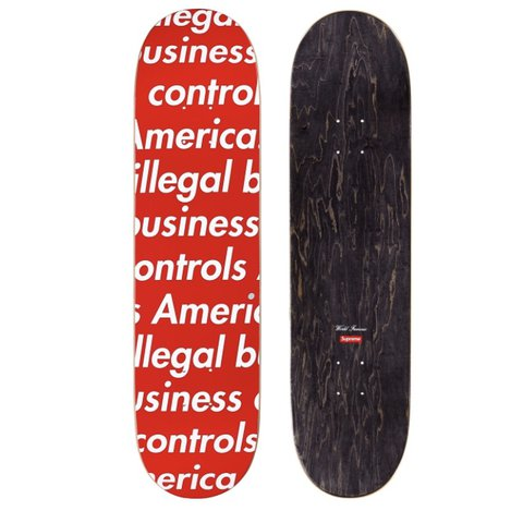 Supreme Illegal Business Controls America Skateboard Deck in - Depop 1c38265a6fd