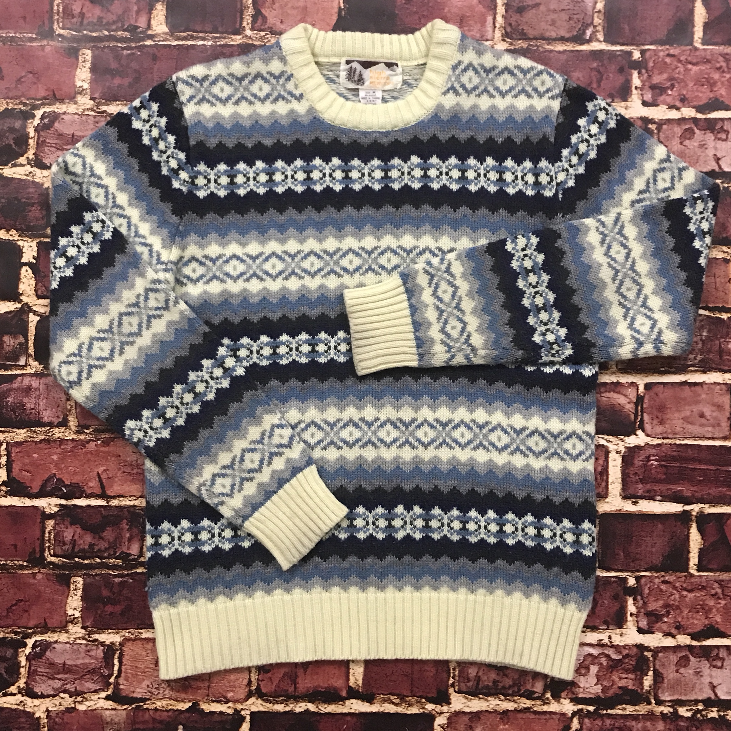 Vintage 90s High Sierra Abstract Pattern Sweater    - Depop