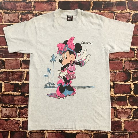 b21e08f4 @geezygotdeals. last year. Valley Center, United States. Vintage Minnie  Mouse Shirt California 90s Tee Gray ...