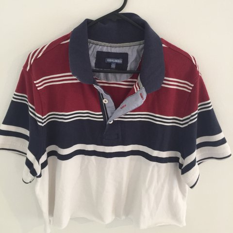 035c0001 selling this cut up tommy hilfiger looking mens polo shirt. - Depop