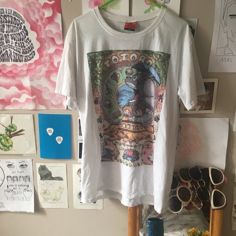 55d4e89673f over-sized studio ghibli tshirt bought from camden markets! - Depop