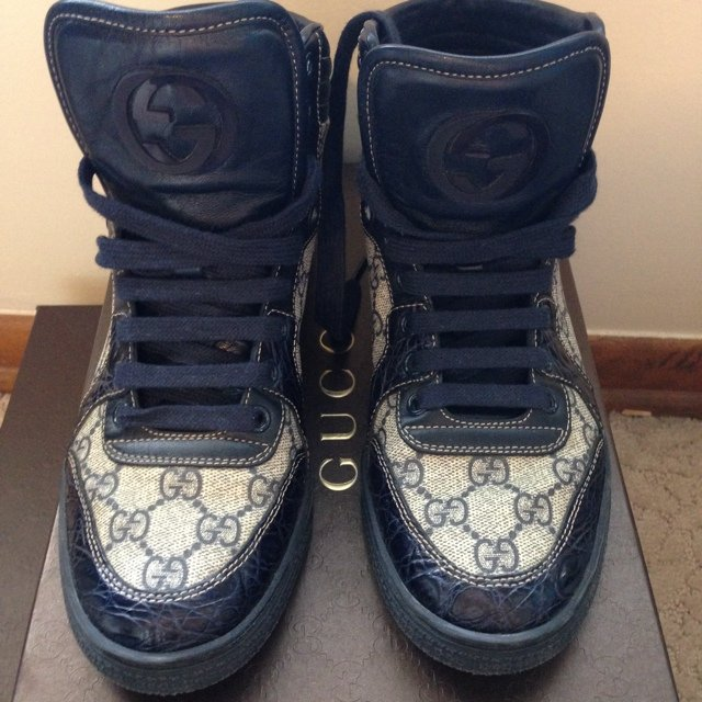 63501508a69 Pre owned 100% authentic Gucci high tops. Everything I sell - Depop