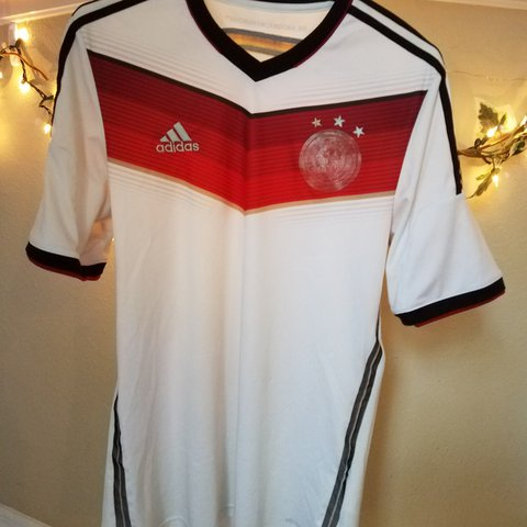 b7dba6520 @dotman4114. last year. Spring Hill, Hernando County, United States. Mens size  M Adidas GERMANY 2014 World Cup Home Soccer Jersey