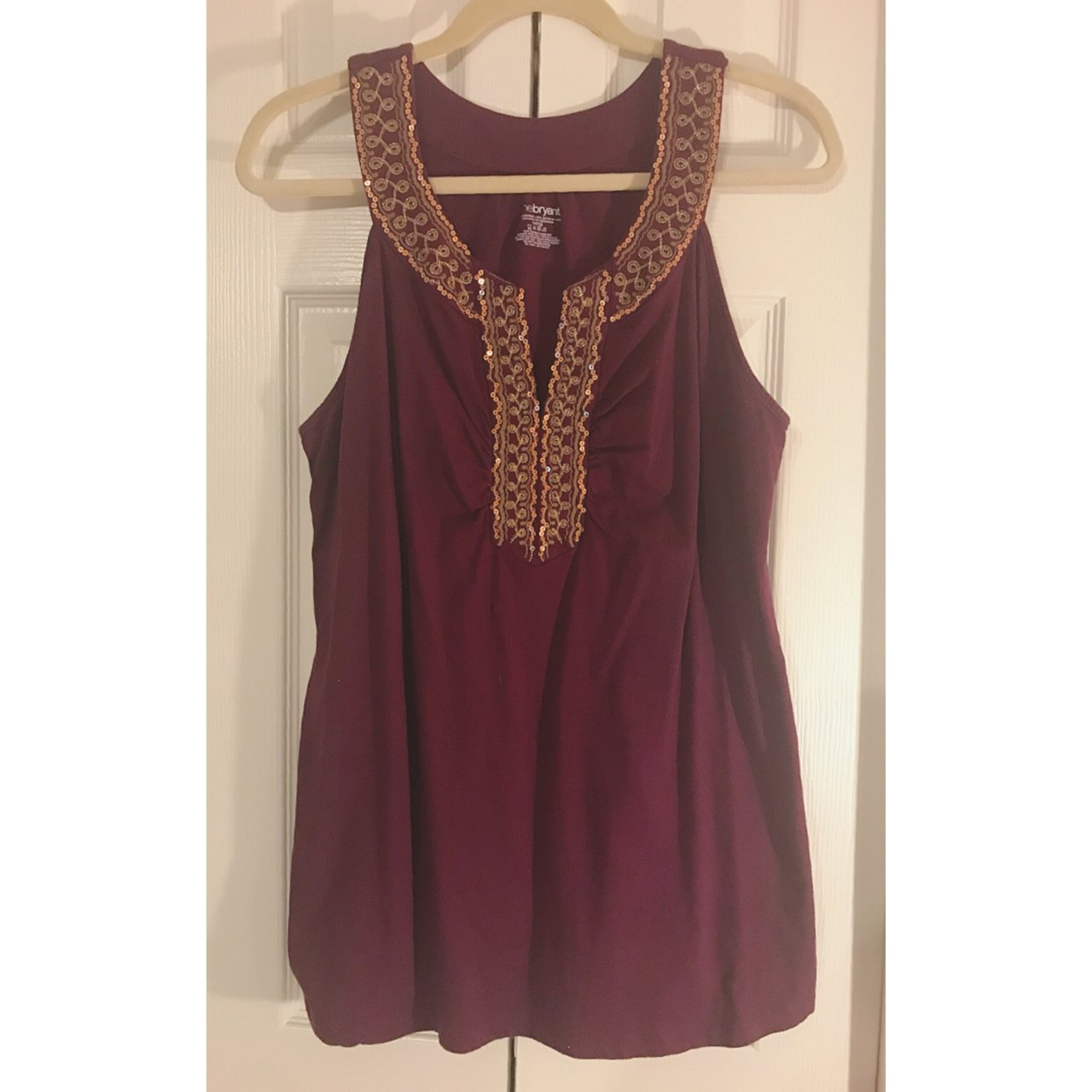 c14fb9fd355dc Lane Bryant size 14 16 Moroccan style sequin tank top with - Depop