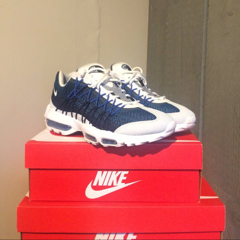 e9bc6b767d @isaactremaine. 2 years ago. London, UK. Nike Air Max 95 Ultra Jacquard |  Blue & White ...
