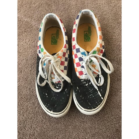 c06ca5ec0fb Crayola Vans 🌈🖍 They are youth size 3.5 which is equal to - Depop