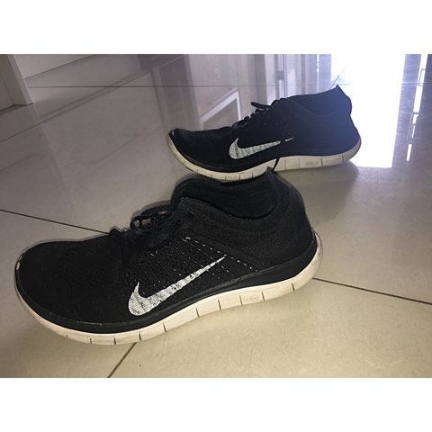 fd1e6fedda70 Nike free run fly knit black and white womens trainers . a 5 - Depop