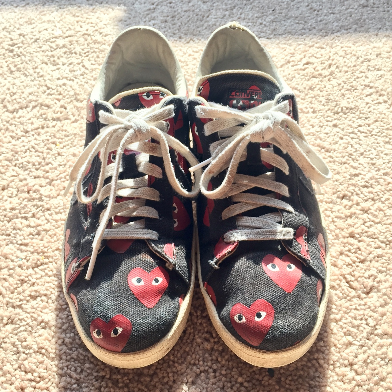 CDG X Converse one star. Used, but