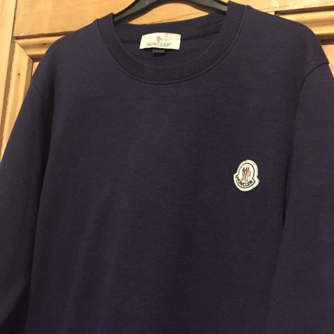 5f886a28bc53 Mens navy Moncler jumper 100% AUTHENTIC The jumper is in - Depop