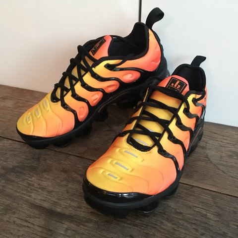 "da3b8e98cb9c7 Nike Air Vapormax Plus Tn Vm Orange ""Sunset"" UK exclusive to - Depop"