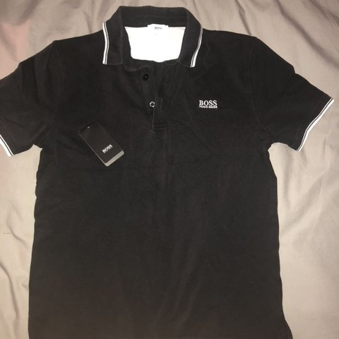 35a0fe971 @_harry_17_. 5 days ago. Warwick, United Kingdom. Hugo Boss Junior Black Polo  Shirt