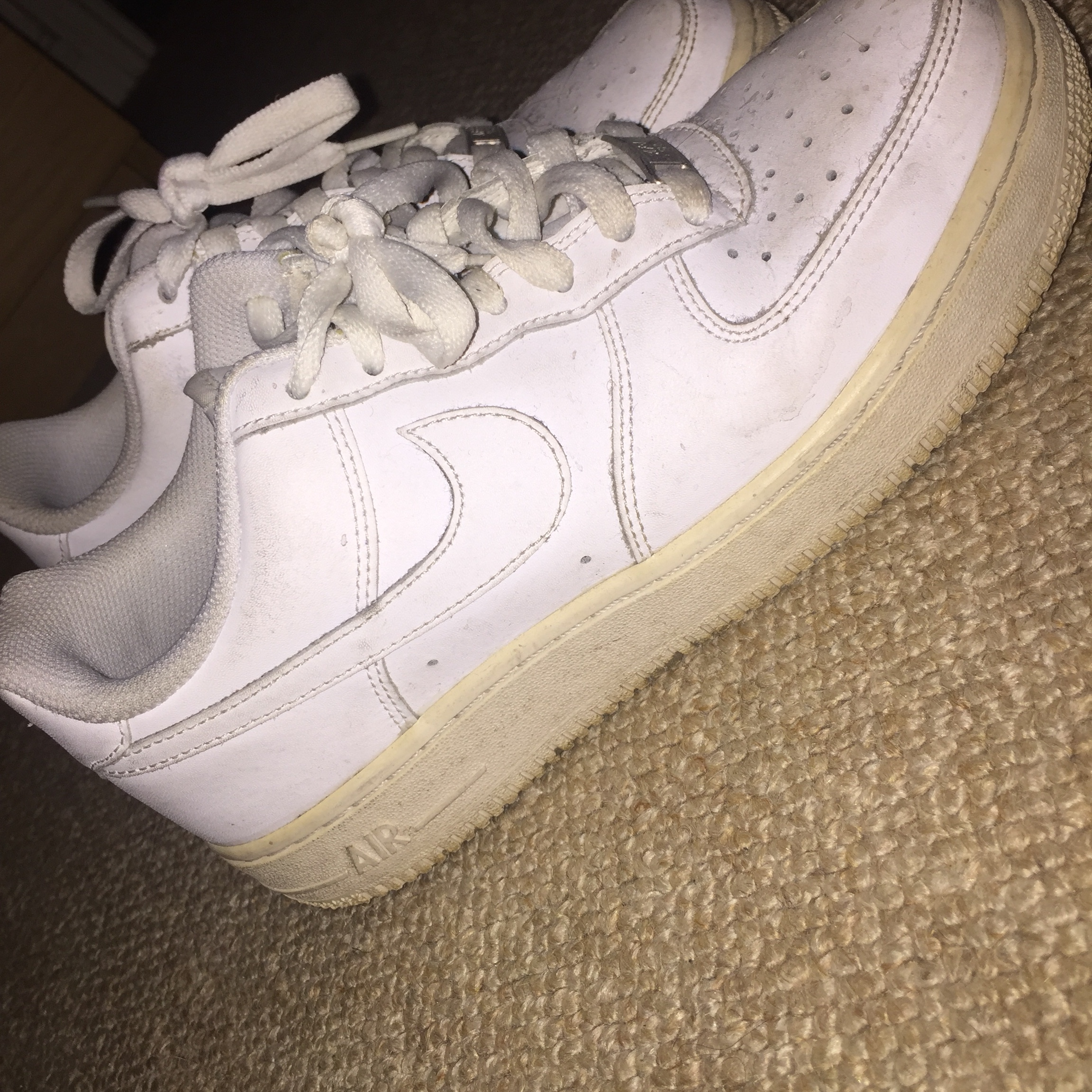 White nike Air Force 1. Picture is