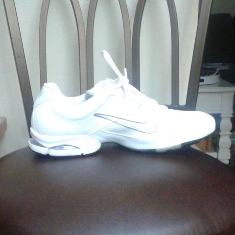 Women s white Nike Air sneakers. The heels have sections are - Depop bf72065a0
