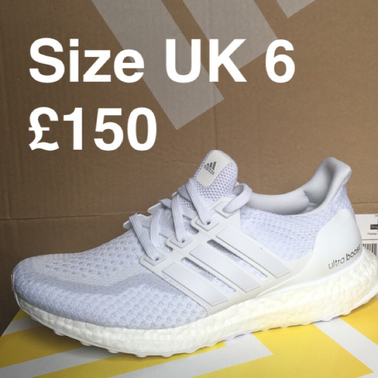 BRAND NEW Adidas Triple White Ultra Boost 2.0 ✓ Women s UK - Depop 2956ba1d1