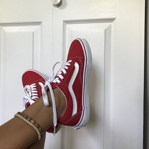 f43ea5cb246b Old Skool Vans (Canvas) Formula One Size 6.5 women s and in - Depop