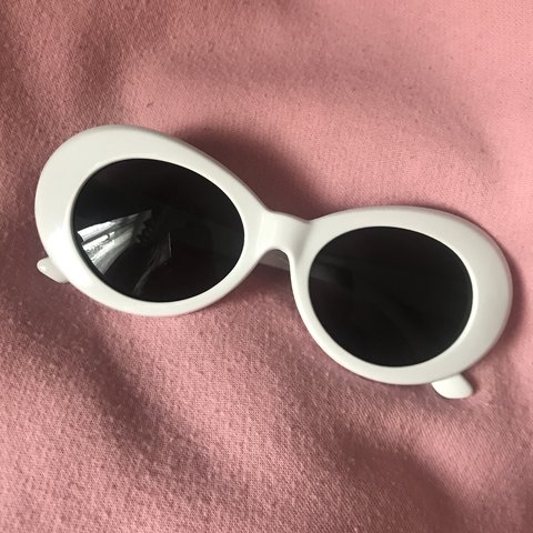 0b891cc59f7 White clout oval goggles glasses Brand new in package Kurt - Depop