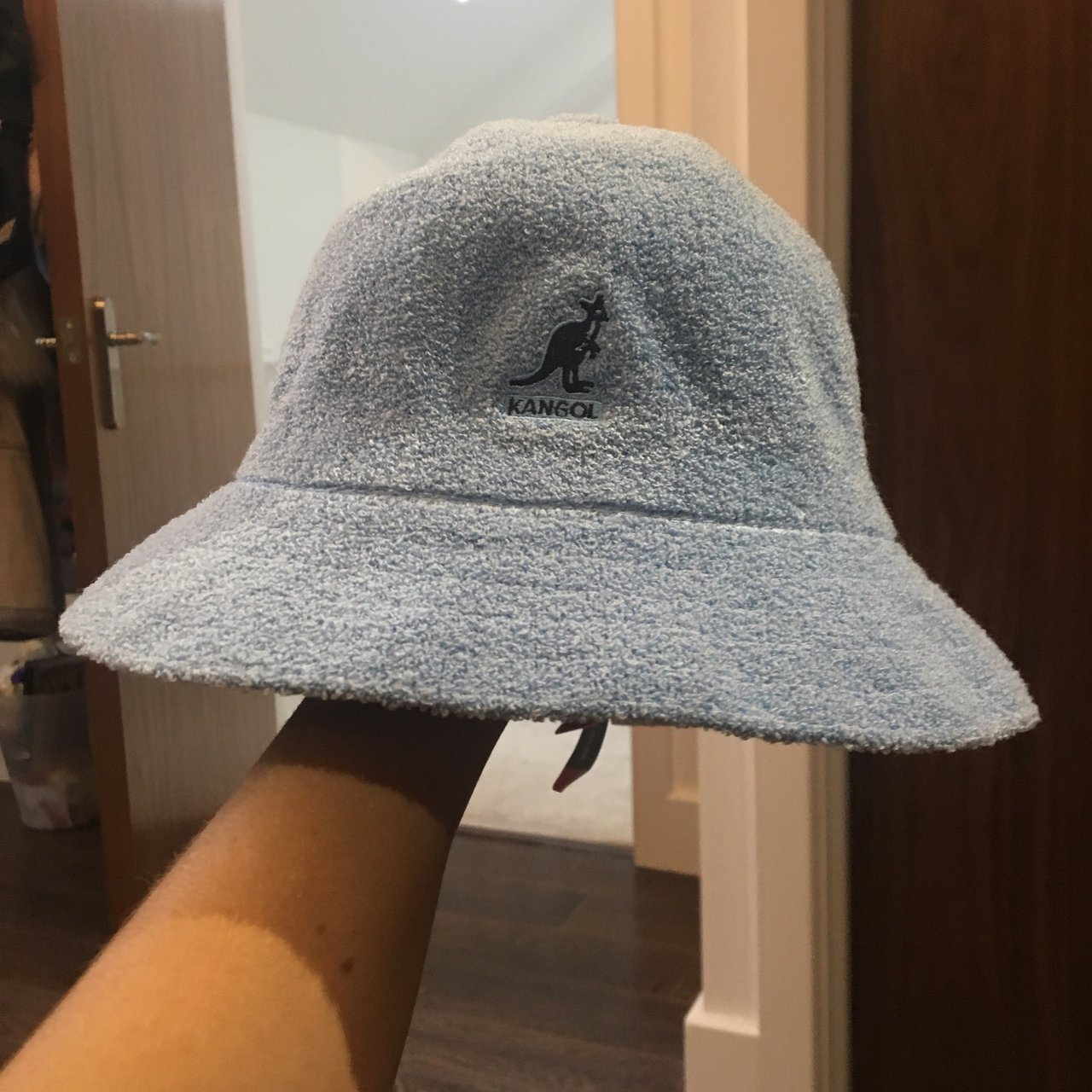 1849bfe1022 Baby blue Kangol Bermuda hat. Brand new with tags. Can t - Depop